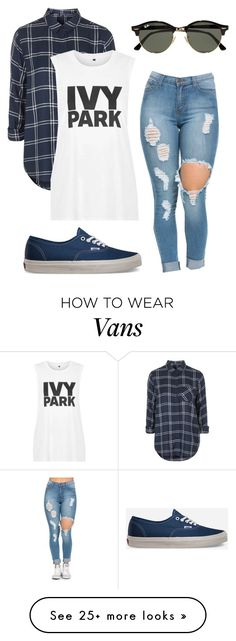 """#No name"" by eemaj on Polyvore featuring Topshop, Vans and Ray-Ban"
