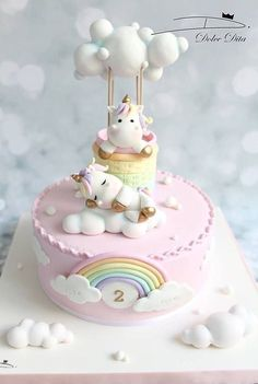 Gorgeous and yummy unicorn rainbow cake