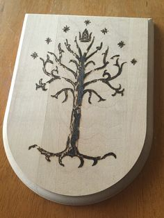 The White Tree of Gondor. Well not really white. But you get the idea. #lotr woodburn