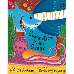 Commotion in the Ocean [Paperback], (childrens poetry, oceans, picture book, poetry, sea life)
