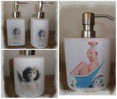 Pumpeflasker til såpe Soap Dispenser, Decoupage, Bathroom, Soap Dispenser Pump, Washroom, Full Bath, Bath, Bathrooms