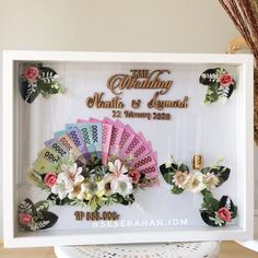 Wedding Gift Boxes, Diy Wedding, Wedding Gifts, Creative Money Gifts, We Bare Bears Wallpapers, Cute Frames, Flower Frame, Diy And Crafts, Wedding Decorations
