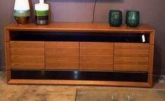 Modern Buffet, Storage Place, Electronic Devices, Walnut Finish, Clean Lines, Modern Furniture, Miami, Cleaning, Contemporary