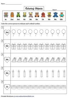 Coloring Objects in the Ordinal Positions