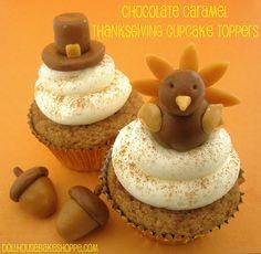 Dollhouse Bake Shoppe: Easy Thanksgiving Cupcake Toppers