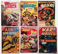 12 Silver Age War Comics 1964-68 12¢ Comic Book Lot - War Heroes, Hellcats, Capt. Storm