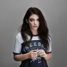 i like how lorde has naturally curly hair and tames it well. but it looks great thick and smooth.
