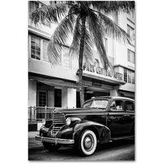 Trademark Fine Art Classic Car Miami Beach Canvas Art by Philippe Hugonnard, Size: 16 x 24, White