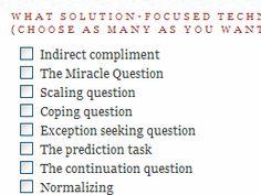 solution focused