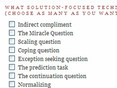 ... Therapy on Pinterest | Solution Focused Therapy, Counseling Worksheets