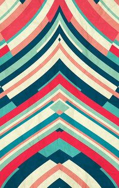 Danny Ivan loves to play with many colors to compose beautiful hypnotic works. Splendid creations from this artist based in Lisbon and abstract design lovers to Motifs Textiles, Textile Patterns, Textile Design, Geometric Patterns, Indian Patterns, Surface Pattern Design, Pattern Art, Retro Pattern, Stripe Pattern