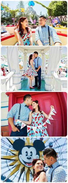 Real couple engagement shoot with Marisol and Tony at Disneyland