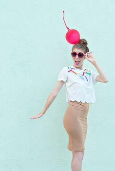 5 Amazing Last Minute DIY Halloween Costumes: Ice Cream Cone by Studio DIY.