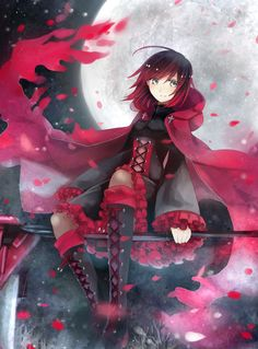 RWBY,Anime,Аниме,Ruby Rose,akikaze (pokekinokokikaku),Anime Art,Аниме арт, Аниме-арт