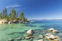 Lake Tahoe, California and Nevada. Beautiful US lakes with beaches