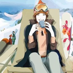 Wallpapers of fashion illustrations by French illustrator Sophie Griotto 1024x1024 (02)