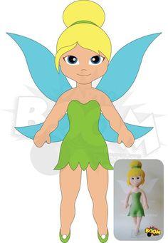 Eu Amo Artesanato: Boneca Sininho(Tinker Bell) com molde