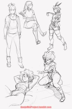 Annie Mei Project — sketches from tonight! Made an effort to draw...