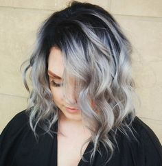 gray hair with black roots - Google Search