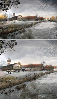 """The main aim of this project was to design an extension of existing town hall in Tønder, Denmark. As an architectural company """"LOOP architects"""" we have cooperated with engineer and landscape architect in order to provide a sustainable solution which could…"""