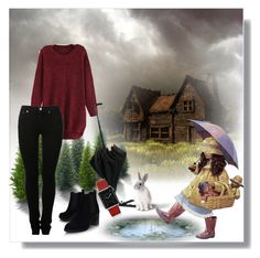 """Rainy day :)"" by irmica-831 ❤ liked on Polyvore featuring Topshop, MM6 Maison Margiela and Casetify"