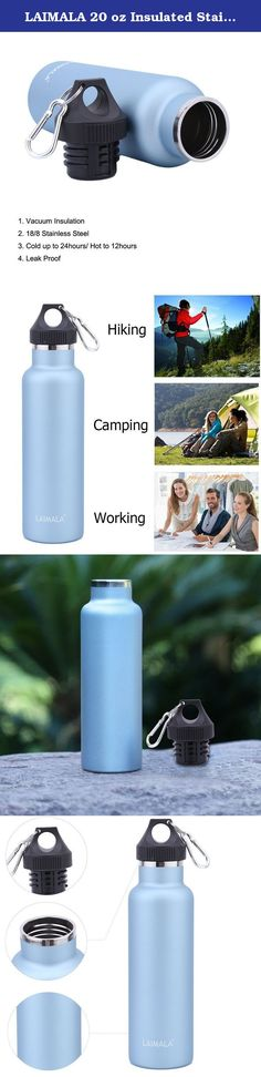 LAIMALA 20 oz Insulated Stainless Steel Water Bottle, Double Wall Vacuum, Standard Mouth, Blue. Your search for a perfectly insulated water bottles is ended! Our motto - Our specialty: Our LAIMALA focus on change & improve people's life in an easiest way, we try our best to provide quality product, it is cherished and trusted for many years. LAIMALA Insulated Stainless Steel Water Bottle is the best companion you've been looking for! - 18/8 Stainless steel body, lightweight, durable…