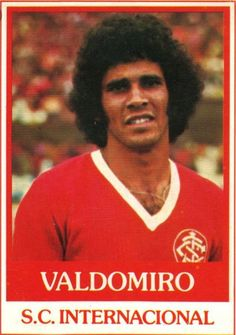 Valdomiro of SC internacional in Fifa, Sc Internacional, Sports Clubs, All Star, Baseball Cards, 1970s, Football, Club, Hs Sports