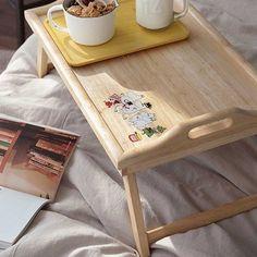 Moomin-character-Bed-Tray-Wooden-Tray-wooden-serving-tray-breakfast-tray - 37.50 e <3