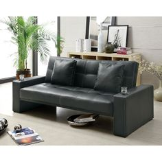 Coaster Sofa Bed with cupholders $259 furniturepick.com