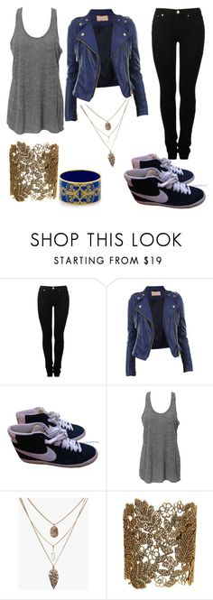 """""""Untitled #1200"""" by laurenwolfchild ❤ liked on Polyvore featuring MM6 Maison Margiela, NIKE, Simplex Apparel, Stella + Ruby and Halcyon Days"""