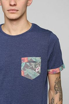 Native Youth Floral Pocket Tee - Urban Outfitters