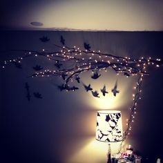 Tree branch lights decor ideas