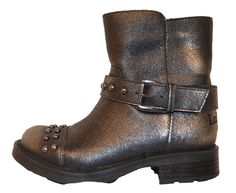 Lelli Kelly Pretty Pewter Ankle Biker Boots<br>*PREORDER*
