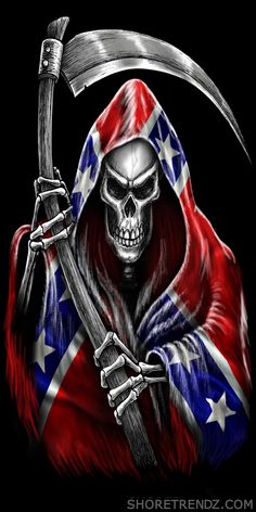 Rebel Flag Beach Towel Grim Reaper with Scythe Confederate Southern Dixie Pride Grim Reaper Art, Grim Reaper Tattoo, Grim Reaper Quotes, Redneck Tattoos, Rebellen Tattoo, Rebel Flag Tattoos, Reaper Drawing, Patriotic Pictures, Skull Pictures