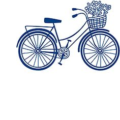 Bicycle with Basket Rubber Stamp from Paper Source, one of my favorite stores!