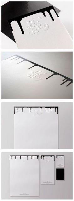 Brand & Id / Modern stationary design ideas. Black & white corporate identity & branding design.: