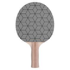Geometric pattern art design Ping-Pong paddle
