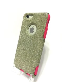 Custom iPhone 6 4.7 inch Glitter Otterbox Commuter by NaughtyWoman