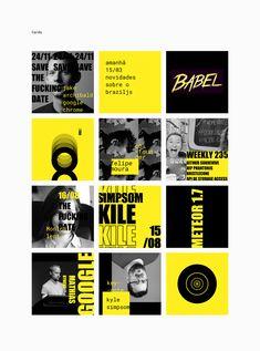 BrazilJS Visual Identity on Behance design BrazilJS Visual Identity Mode Instagram, Instagram Feed Layout, Instagram Design, Web Design, Grid Design, Book Design, Cover Design, Social Media Banner, Social Media Design