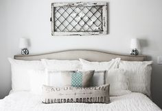 I LOVE the simplistic and organic feel of this bedroom.