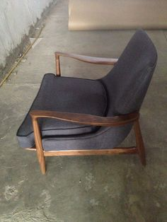 chair in fabric and walnut wood, $$1,700