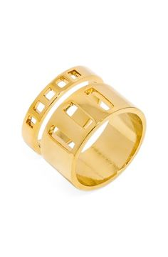 BaubleBar Grid Rings (Set of 2) available at #Nordstrom