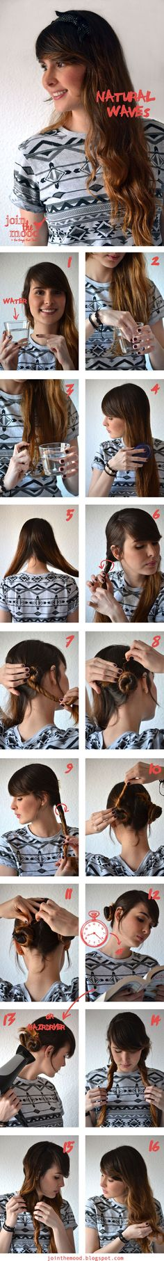 Natural Waves make girls more beautiful and cute. Very easy to do, #Hairstyle, #Fashion, #Hair, #Beauty.