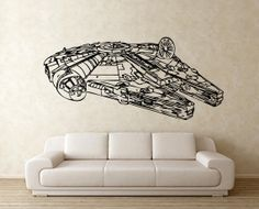 Star Wars Millennium Falcon Vinyl Wall Art Decal (WD-0297) Jen -Which room are you going to put this in?