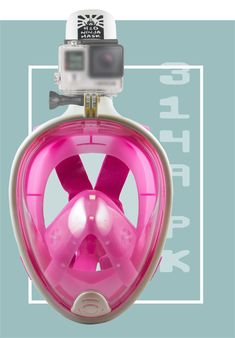 73c35eb29 Full Face Snorkel Mask – GoPro Edition Pink