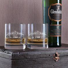 Glenfiddich 12 Jahre mit 2 gravierten Whiskygläsern im Geschenkset