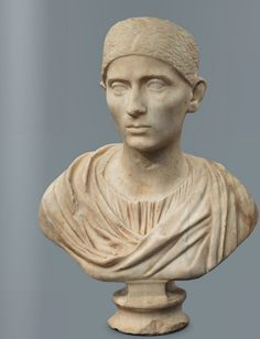 ~Bust of Matron, contemporary with Hadrian, Roman 120 A.D.~