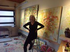 Sharon Barr in her studio www.sharonbarr.ca