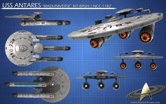 Future Federation Starships | NCC-1182 U.S.S. Antares