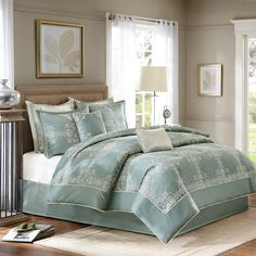 Madison Park Signature Arlington 8-Piece Comforter Set - Overstock™ Shopping - Great Deals on Madison Park Comforter Sets - Definitely not the colors I was going for, but it's so beautiful!! I like how it's woven and embroidered, not printed. :)